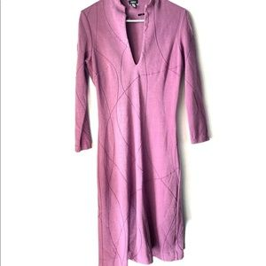 Purple Vneck Bodycon Dress Versus by Versace